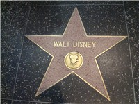 Walt Disney's star on the Hollywood Walk of Fame.