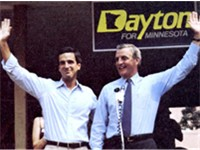 Mondale and future Minnesota DFL Senator Mark Dayton