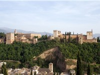The palace Alhambra, where Irving briefly resided in 1829, inspired one of his most colorful books.