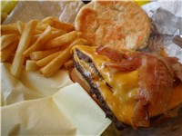 Wendy's Baconator burger with fries