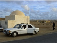 Police checkpoint at suburbs of Laayoune.
