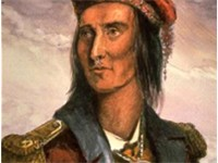 A depiction of Tecumseh in 1848