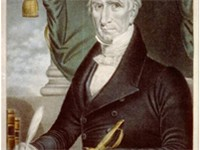 Chromolithograph campaign poster for William Henry Harrison