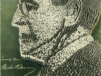 Image of Wilson created by 21,000 soldiers at Camp Sherman, Chillicothe, Ohio, 1918