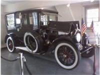 Wilson's Pierce Arrow, which is on display in his hometown of Staunton, Virginia.