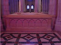 The final resting place of Woodrow Wilson at the Washington National Cathedral