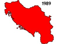 Breakup of SFR Yugoslavia.
