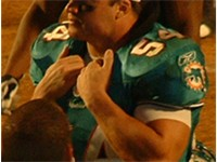 Zach Thomas during his tenure with the Dolphins