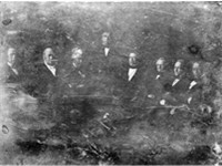 President Taylor and his Cabinet, 1849 Daguerreotype by Matthew Brady From left to right: William B.