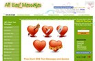 allbestmessages.com Homepage Screenshot
