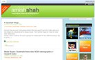 amish-shah.com Homepage Screenshot