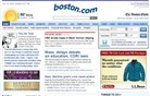 boston.com Homepage Screenshot