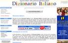 dizionario-italiano.it Homepage Screenshot