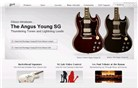 gibson.com Homepage Screenshot