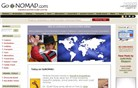 gonomad.com Homepage Screenshot