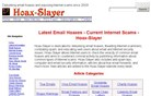 hoax-slayer.com Homepage Screenshot