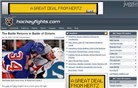 hockeyfights.com Homepage Screenshot