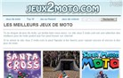 jeux2moto.com Homepage Screenshot