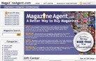 magazine-agent.com Homepage Screenshot