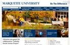 marquette.edu Homepage Screenshot