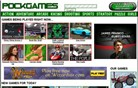 pockgames.com Homepage Screenshot