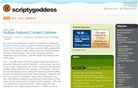 scriptygoddess.com Homepage Screenshot