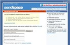 sendspace.com Homepage Screenshot