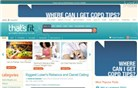 thatsfit.com Homepage Screenshot