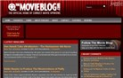 themovieblog.com Homepage Screenshot