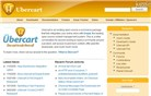 ubercart.org Homepage Screenshot