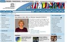 unesco.org Homepage Screenshot