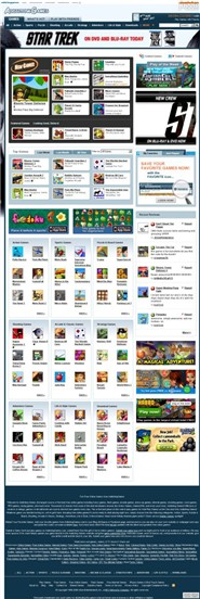 addictinggames.com Homepage Screenshot