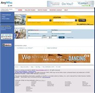 anywho.com Homepage Screenshot