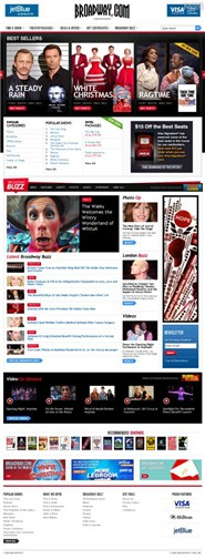 broadway.com Homepage Screenshot