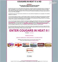 cougarsinheat.com Homepage Screenshot