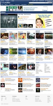 dailymotion.com Homepage Screenshot