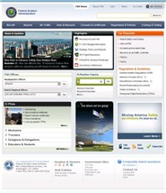 faa.gov Homepage Screenshot