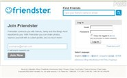 friendster.com Homepage Screenshot