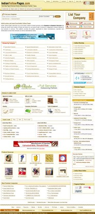 indianyellowpages.com Homepage Screenshot