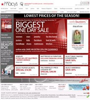 macys.com Homepage Screenshot