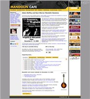 mandolincafe.com Homepage Screenshot