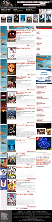 milpeliculas.com Homepage Screenshot