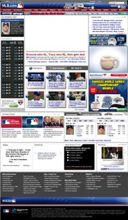 mlb.com Homepage Screenshot