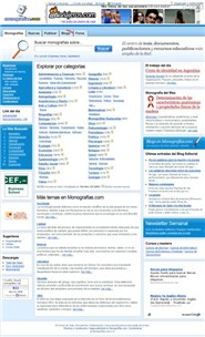 monografias.com Homepage Screenshot