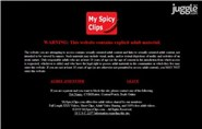 myspicyclips.com Homepage Screenshot