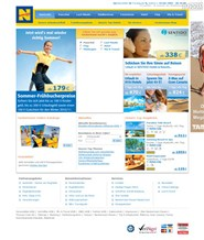 neckermann-reisen.de Homepage Screenshot