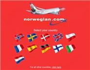 norwegian.com Homepage Screenshot