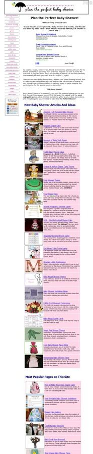 plan-the-perfect-baby-shower.com Homepage Screenshot