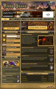runescape.com Homepage Screenshot