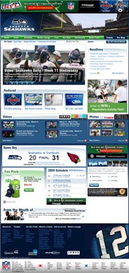 seahawks.com Homepage Screenshot